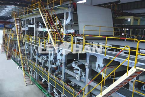 60T/18H Corrugated Paper Making Line In UAE