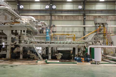 tissue paper machine for paper mill